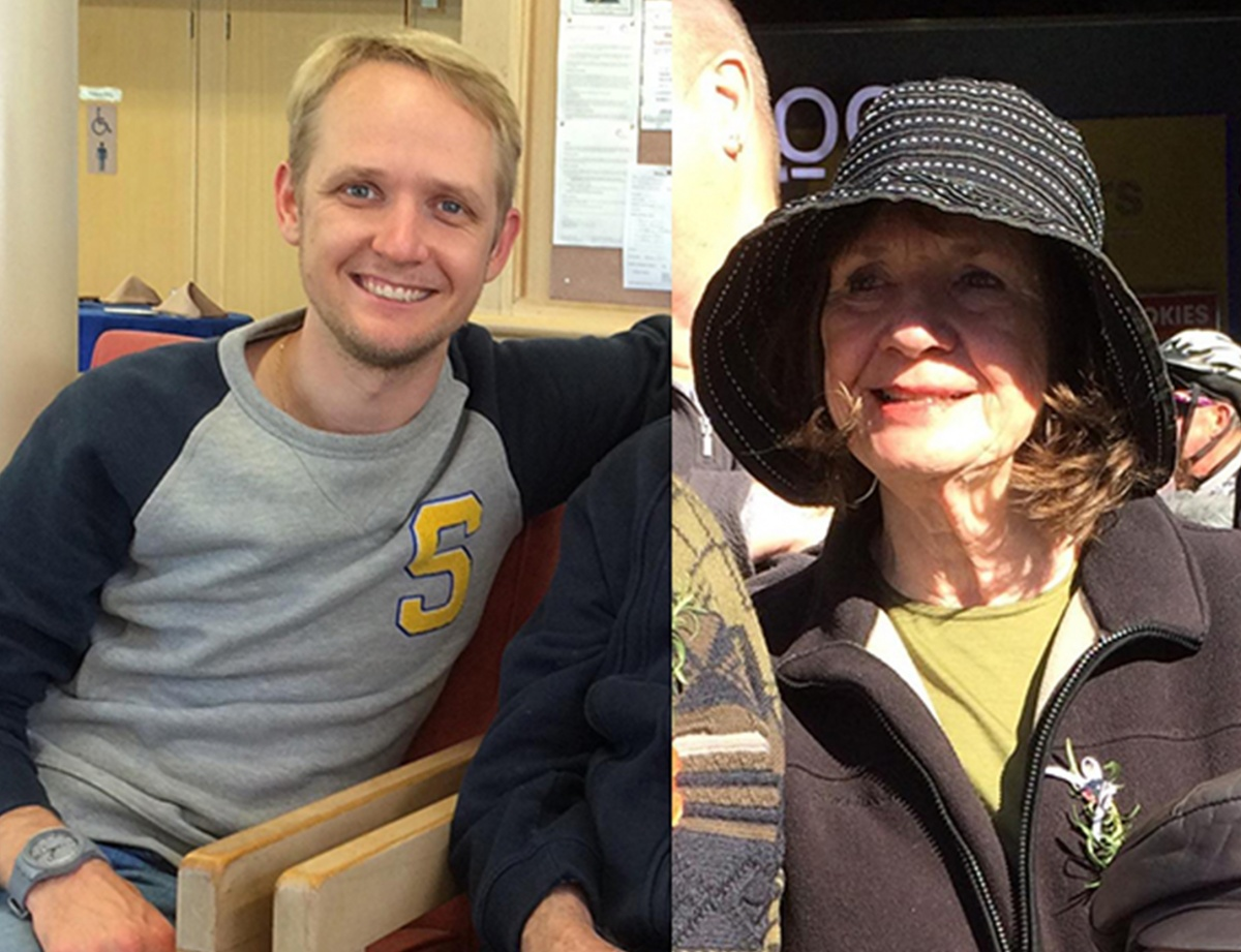 Greig Friday and mother Carol were on board the Germanwings Airbus A320 that went down over the French Alps on Tuesday.