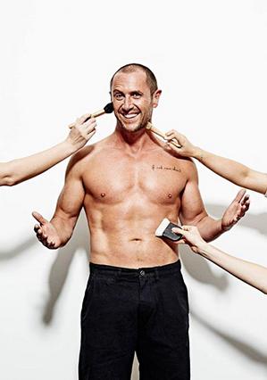 Larry's proud to show of his new body. Photo: Australian Men's Health