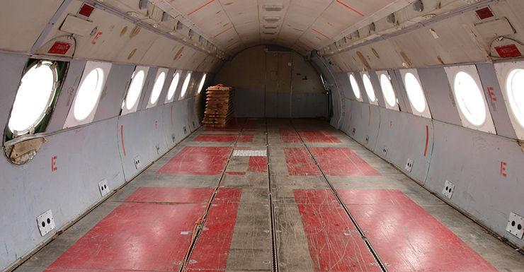 Plane cargo hold