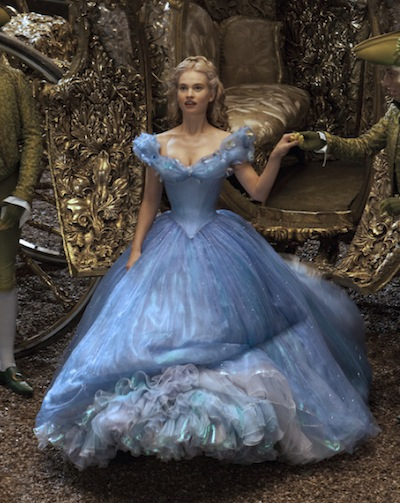James as Cinderella in the 2015 Disney remake.