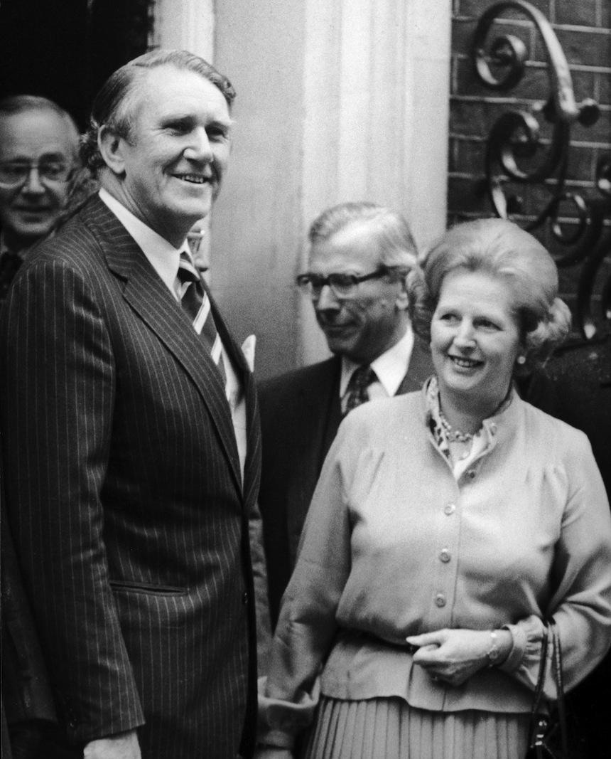 Malcolm Fraser meets Margaret Thatcher