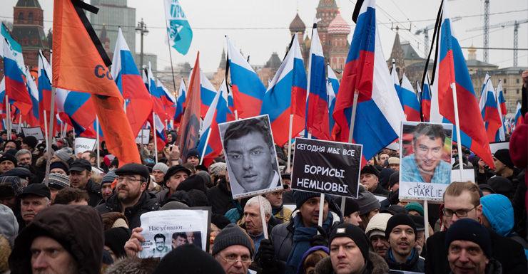 Nemtsov rally AAP