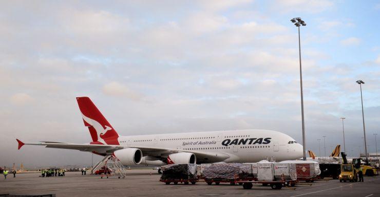 Qantas Airbus was turned around.