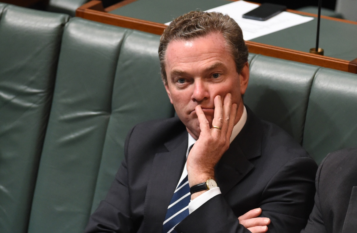 Mr Pyne is accused of starting a program to back the government's views on climate-change-action wars.