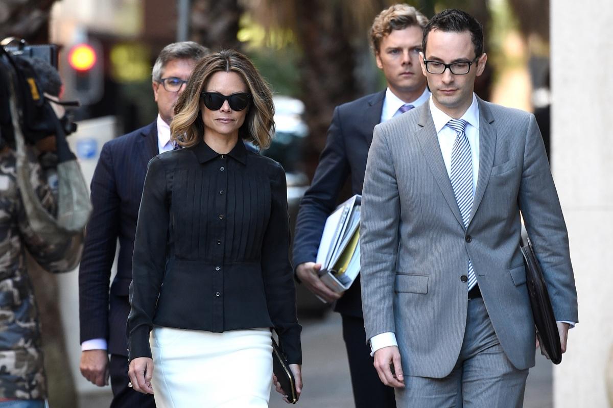 Bianca Rinehart arrives at the Federal Court.