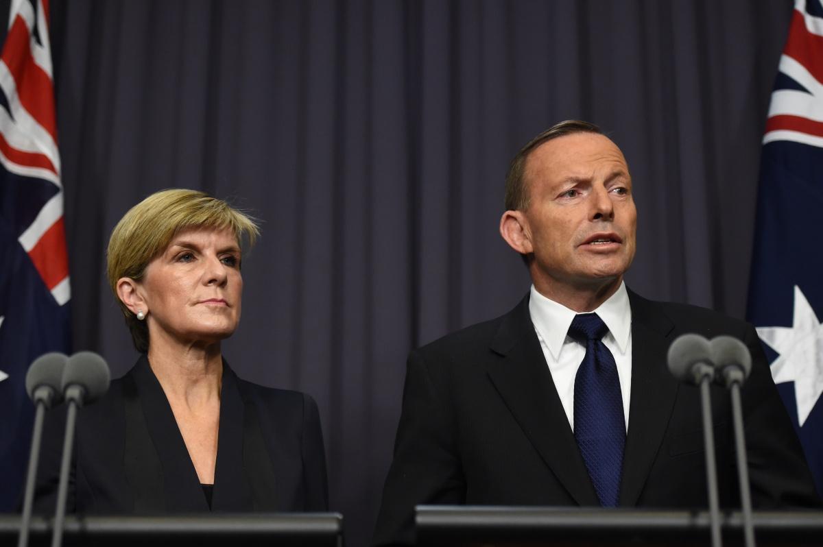 Julie Bishop Tony Abbott