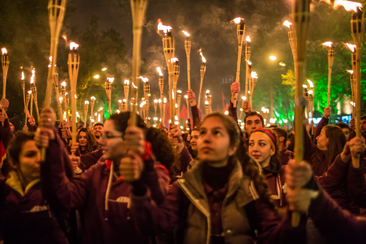 Getty armenian-genocide-candles-torch