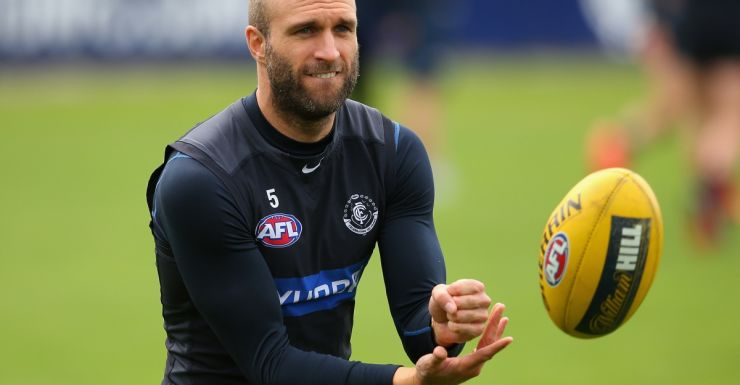 Chris Judd will return against the Magpies.