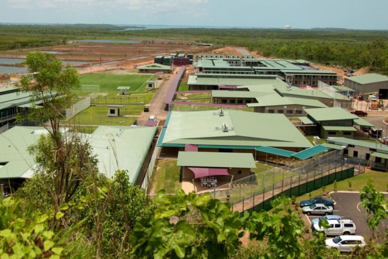 Wickham Point Detention Centre about 50km from Darwin. Photo: AAP