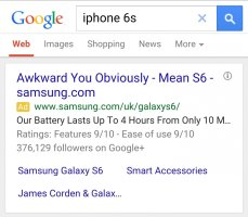 Well played, Samsung. Photo: Imgur.