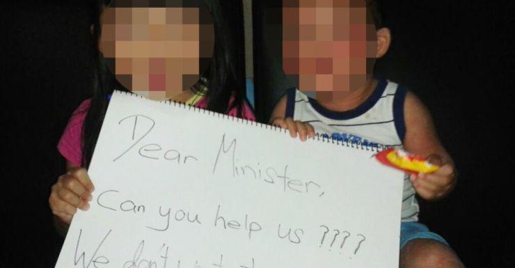 Two of the asylum seeker children born in Queensland.