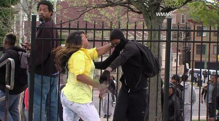 'Mom of the year' tells off her rioting son.