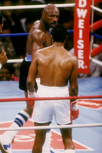 Marvin Hagler and Sugar Ray Leonard's 1987 fight rewrote the record books in terms of money. Photo: Getty