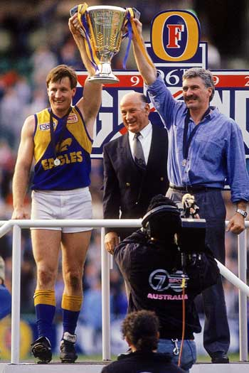 It took Malthouse nine seasons as a coach before he won his first premiership. Photo: Getty