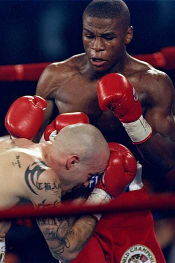 Floyd Mayweather's win over Angel Manfredy in 1998 was one of his finest performances. Photo: Getty