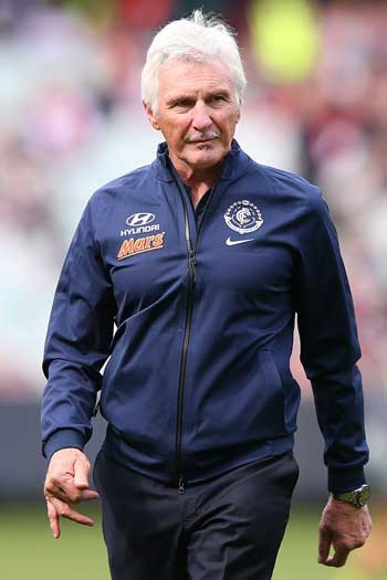 'Snarling, contemptuous': Mick Malthouse. Photo: Getty