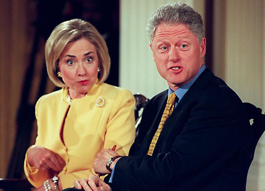 Bill Hillary Clinton. Getty
