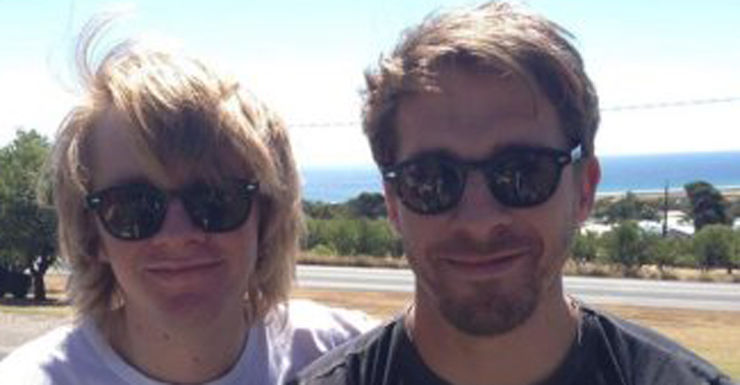 Hugh Sheridan had tweeted concerns for his missing brother.