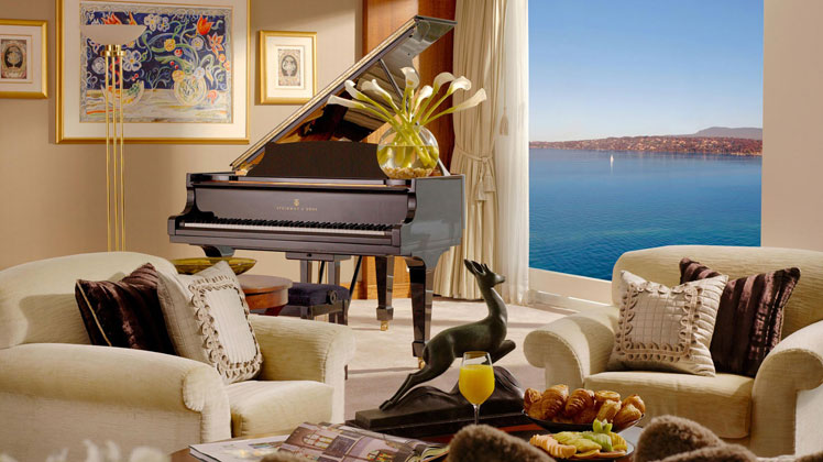 The Steinway in the Royal Penthouse.
