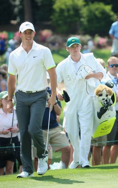 McIlroy (left) and Horan in Augusta, Georgia. Photo: Getty