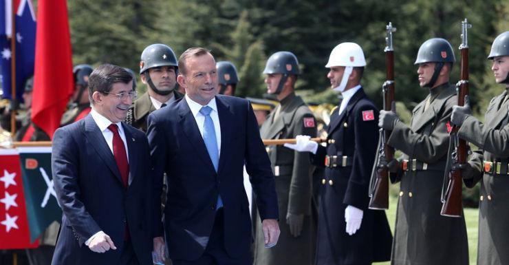 Tony Abbott Turkey Ahmet Davutoglu