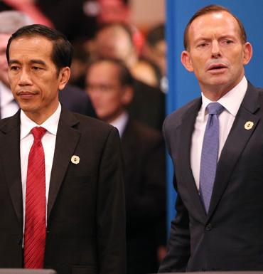 Indoensian President Widodo and Prime Minster Abbott.