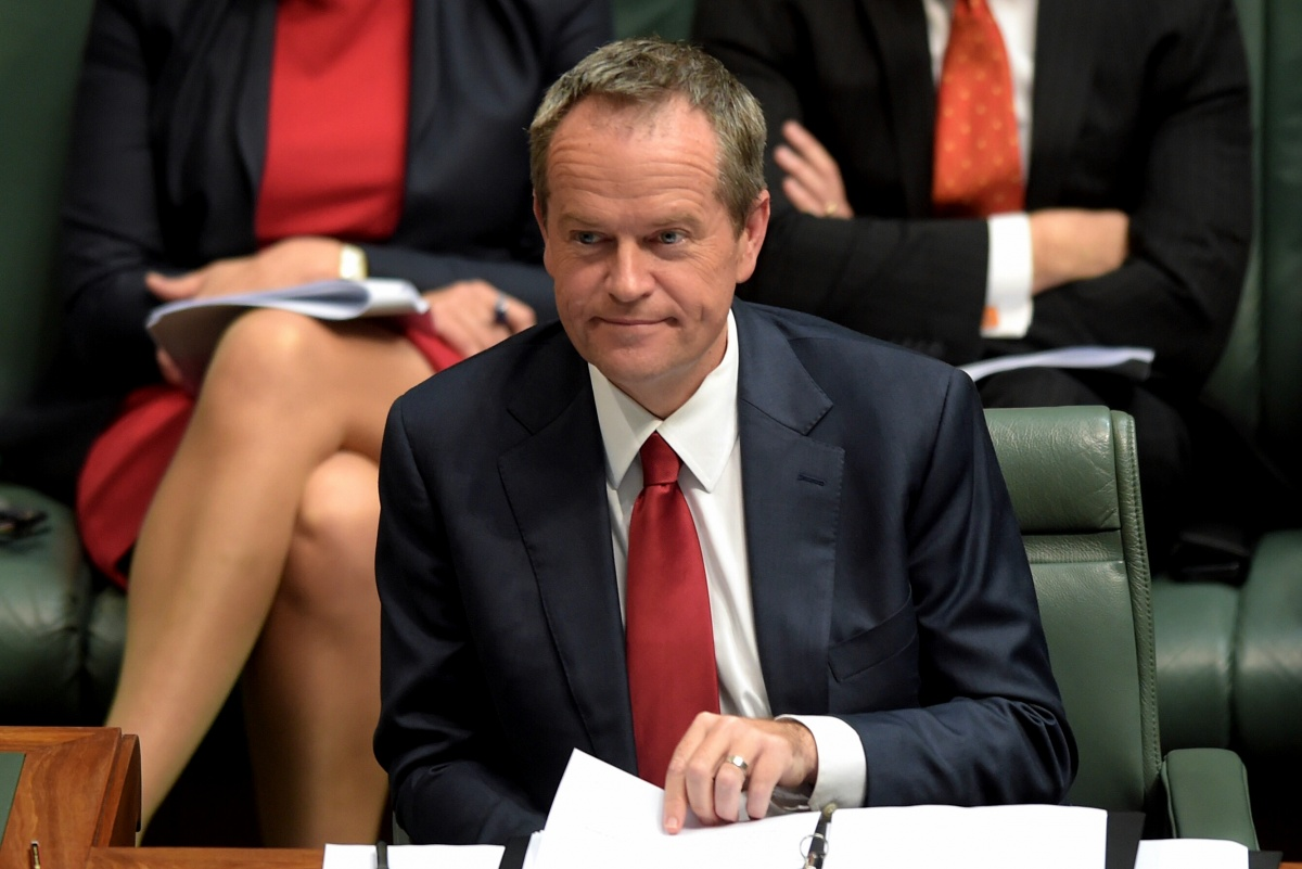 "Shorten said the government should be ""ashamed"" for attacking female workers."