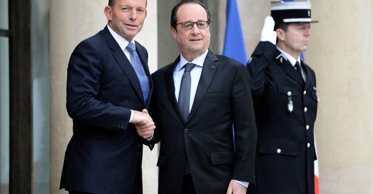 PM Tony Abbott and French President Francois Hollande.