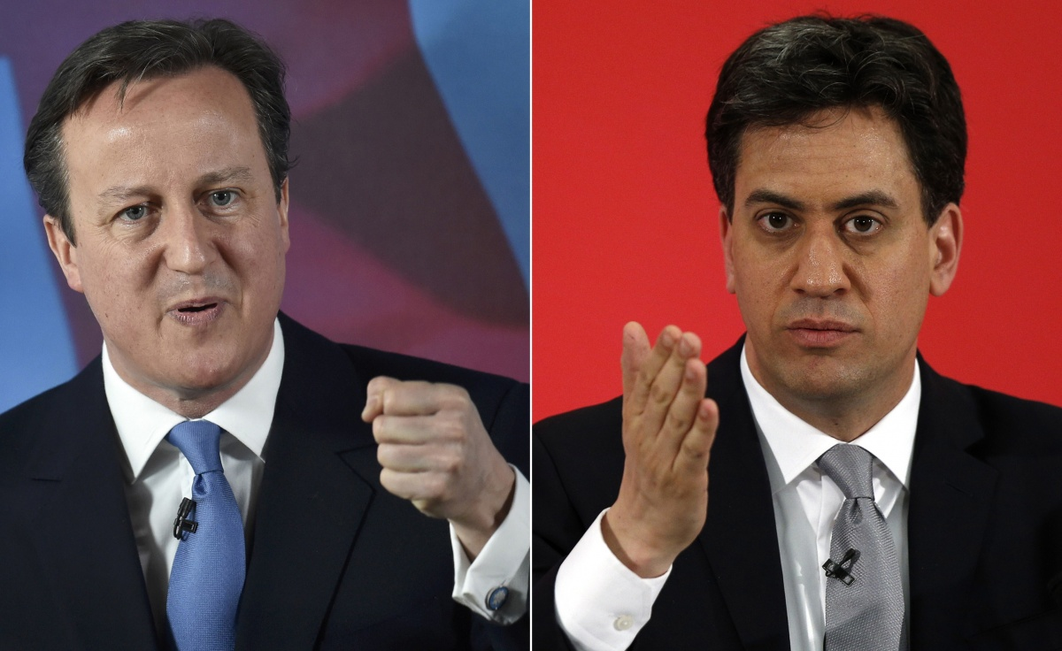 Mr Cameron and Mr Miliband are neck-and-neck.