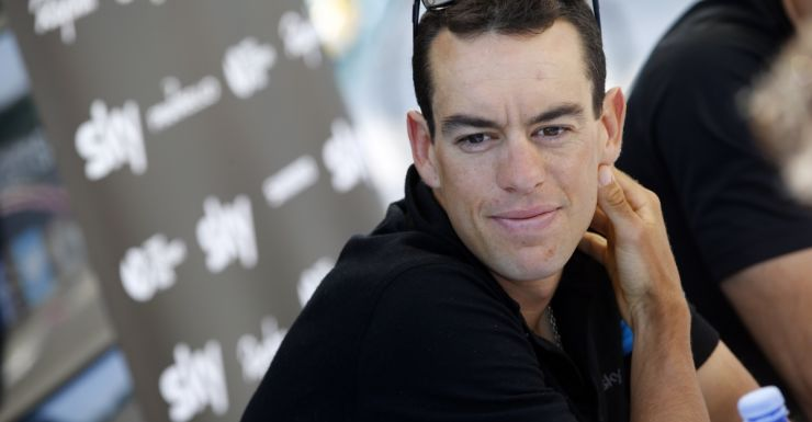 Richie Porte punctured a tyre inside the last 10km.