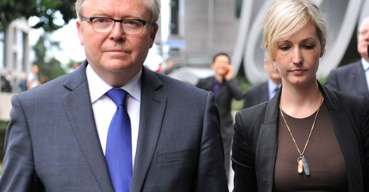 Former PM Kevin Rudd at the royal commission in May 2014.