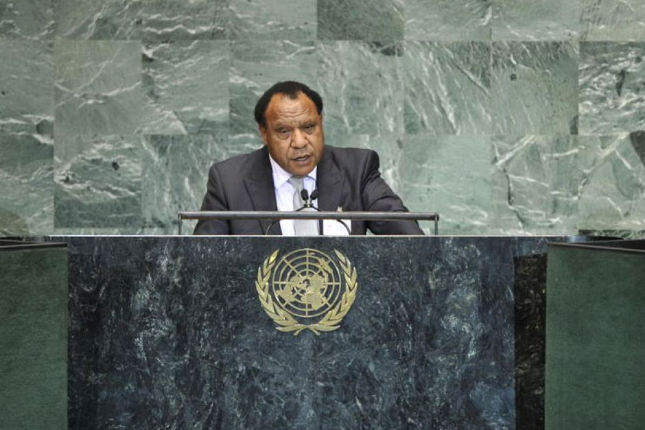 PNG Foreign Minister Rimbink Pato announced the ban.
