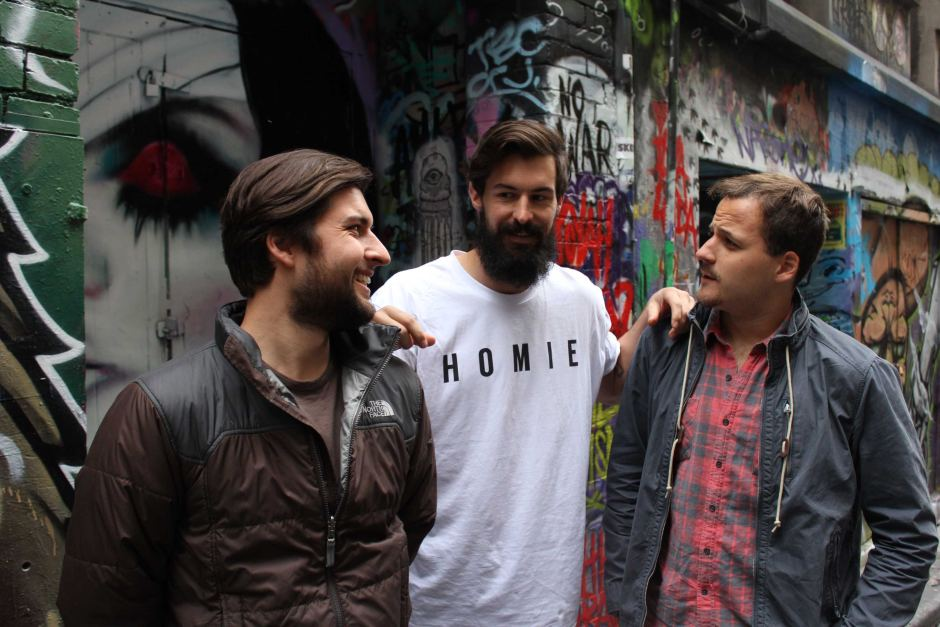 Homeless of Melbourne founders Robbie Gillies, Marcus Crook and Nick Pearce