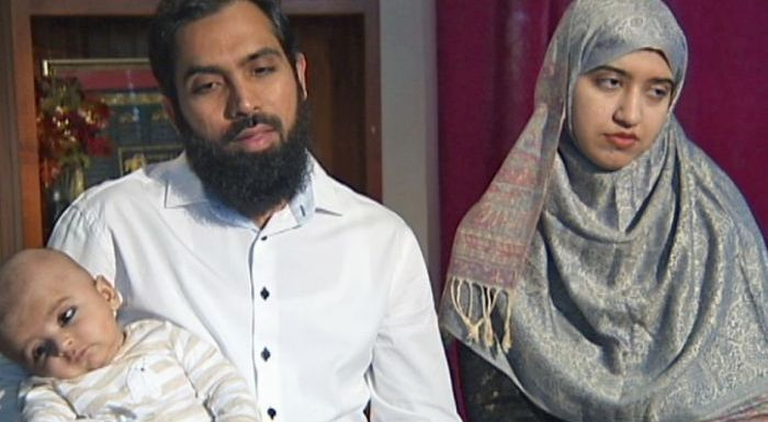Hafeez Ahmed Bhatti and Khalida Hafeez were allegedly subjected to racial abuse on a Sydney train last month.