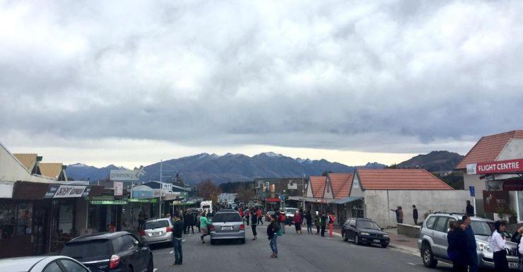Wanaka residents inspect for any damage.