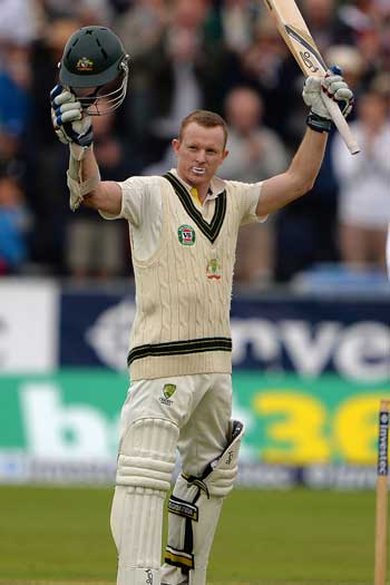 The opener was characteristically understated in his celebration. Photo: Getty