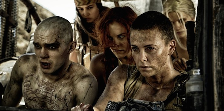 Nicholas Hoult, Riley Keough and Charlize Theron hit the fury road.
