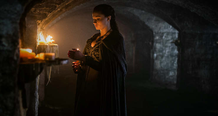 Sansa visits the crypt of her late aunt, Lyanna Stark – an important figure from the past.