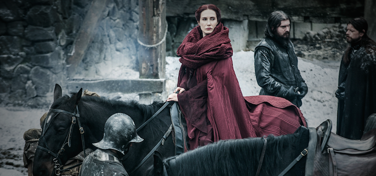 Melisandre sets off for Winterfell.