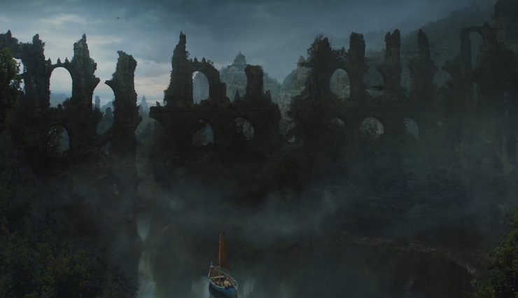 Old Valyria, a once majestic city, now houses the exiled stone men.