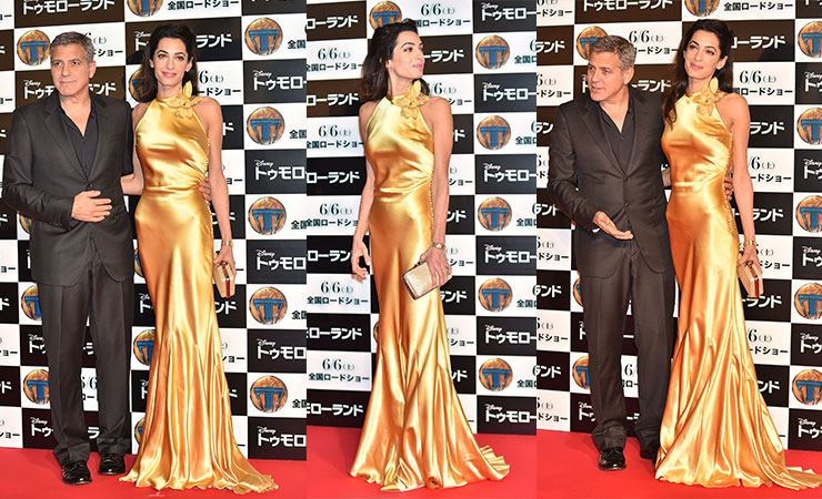 Amal outshines her husband on the red carpet. Photo: Getty