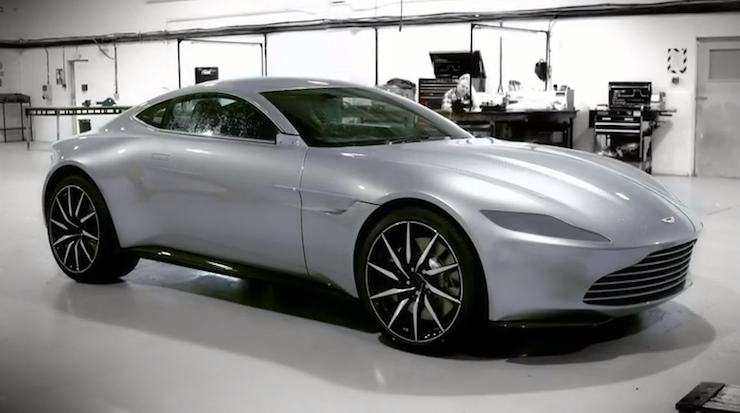Filmmakers took delivery of 10 bespoke Aston Martins.