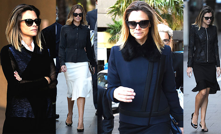 Bianca Rinehart obeys all the laws of fashion during her court appearances. Photos: AAP