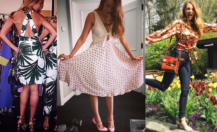 Blake wears all the clothing items she co-designed for her website. Photo: Instagram/@blakelively