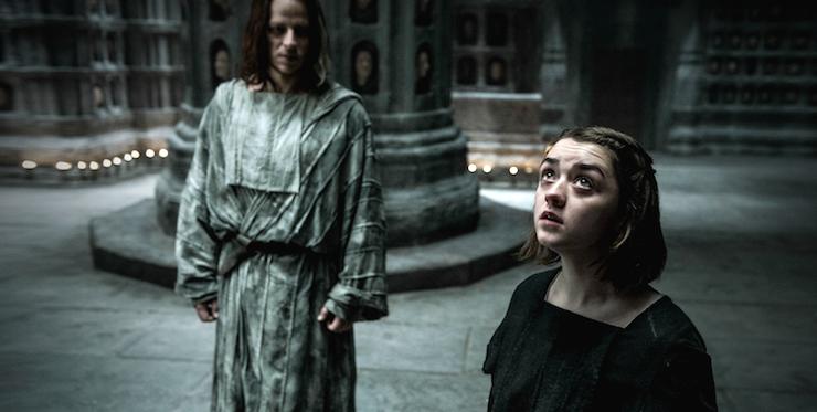 Jaqn H'ghar takes Arya Stark into the Hall of Faces.