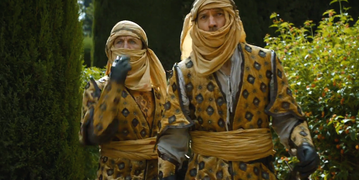 Bron and Jaime try to blend in in Dorne.