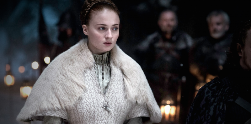 Sansa Stark walks down the aisle to meet her fate.