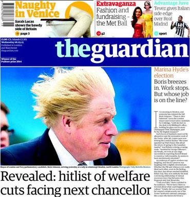 London Mayor Boris Johnson and hopeful Uxbridge contender has always drawn attention with his hair.