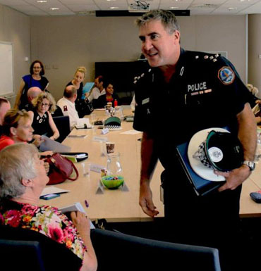 Reps from police, health and community sectors in Darwin. Photo: ABC
