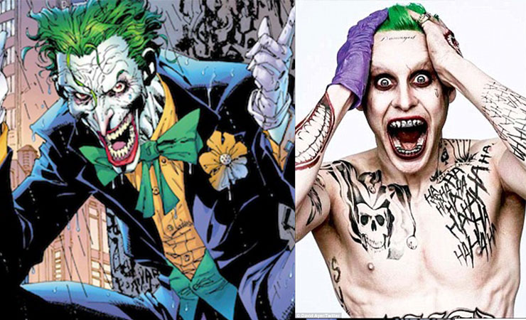 The first photo of JaredLeto (right) in character as The Joker.